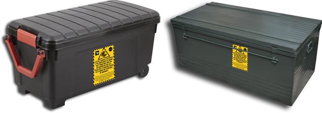 Exemple de caisses transport répliques airsoft