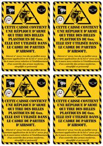 étiquette de caisses airsoft