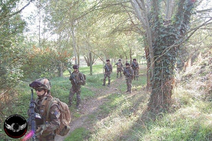 embuscade, piège, airsoft, paintball, assaut, commando, forces speciales, militaire, milsim, assaut, soutien, appuis, M249, sniper