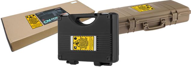 Exemple de boîtes et mallettes transport répliques airsoft