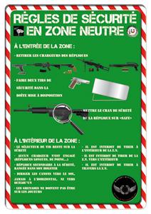 Affiche sécurité en Zone Neutre airsoft