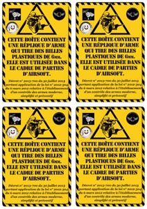 étiquette de boîtes airsoft