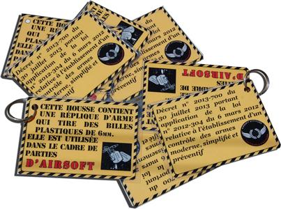 étiquette de housses airsoft